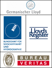 Logo BSH,Lloyds Register, GL, Veritas